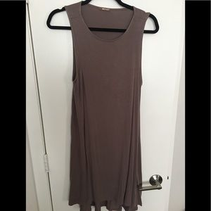 Brown and taupe dress